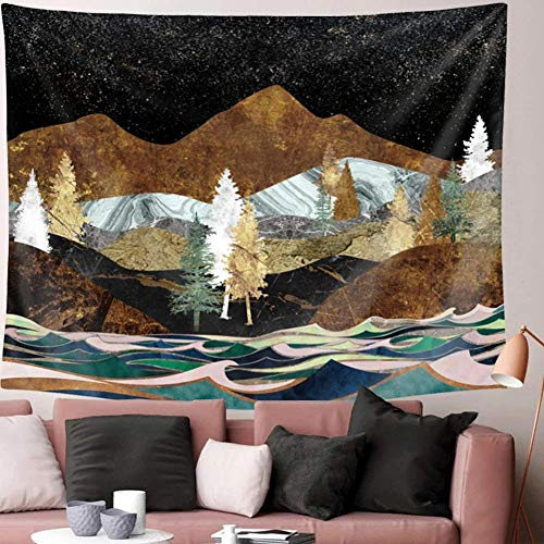 AdoDecor Mountain Tapestry Wall Hanging for Bedroom Sunset Wall Tapestry for Girls Dorm Room Women 150x100CM