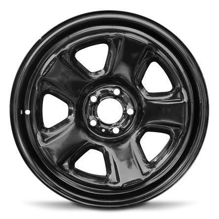 Road Ready Car Wheel For 2011-2019 Dodge Charger 18 Inch 5 Lug Black Steel Rim Fits R18 Tire - Exact OEM Replacement - Full-Size Spare