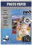 PPD 10 x 15 cm (4 x 6) Papel Fotográfico Brillante Premium (260 g/m2, 100 Hojas, Inkjet, Secado Instantáneo, Resistente Al Agua) - PPD-27-100