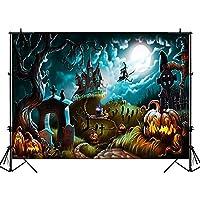 写真の背景 森古木ハロウィン写真の背景レトロテラー城カボチャランタンの背景魔女ゴーストムーン写真の背景 バックグラウンド 壁の装飾 パーティー バナー 誕生日の背景 大