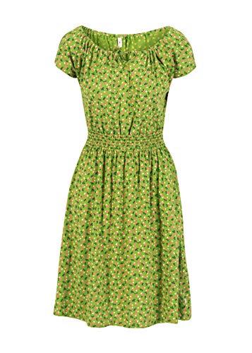 Blutsgeschwister Damen Kleid Botanical Attraction Robe Midi- Kleid Sommerkleid Grün XL