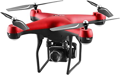Omiky RC Drohne S32T 5MP 1080P Weißwinkel WiFi FPV HD Kamera Lange Lebensdauer RC Drone Quadrocopter (rot)