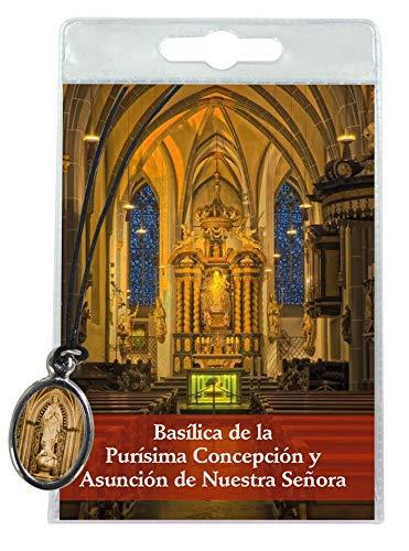 Ferrari & Arrighetti Medalla de la Basílica de la Purísima Concepción (Barcelona) con cordón y oración en español