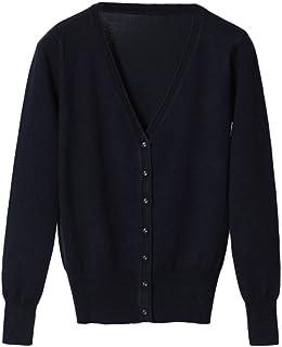 4964a0dec1fe22 PengGeng Women Basic Spring Button Down Lightweight Cardigan V Neck Sweater  Knitwear