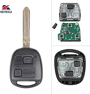Keyecu Remote Key Fob 2BTN 304MHz 4D67 Chip for Toyota Prado 120 2002-04 P/N:60120