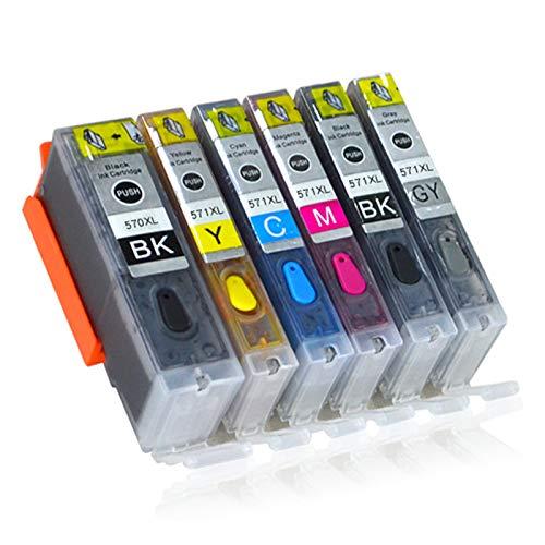 Cartucho de tinta compatible PGI570XL CLI571XL, negro y color para Canon PGI570XL CLI571XL para usar con Canon Pixma MG5750 5751 5752 5753 TS9050