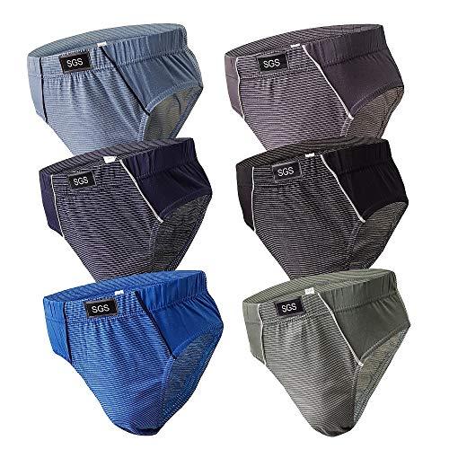 6-12 Slips Herren Unterhosen Männer Slip Unterwäsche Baumwolle Unterhose Sportslips Männer-Slip Pants (XXL, 6.Stück 530), Herstellergröße 9