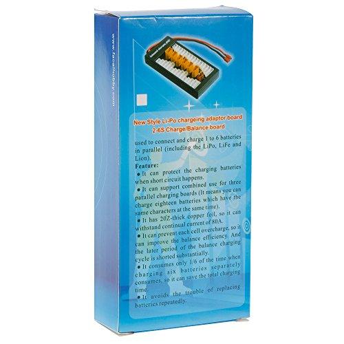 2-6S LiPo Batterie Parallel Ladeadapter Board XT60 Stecker Balance Platte für Imax B6 B6AC