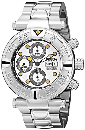 Invicta Men's 10478 Subaqua Noma I Automatic Chronograph White Dial Stainless Steel Watch