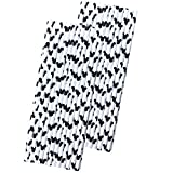 Mickey Mouse Ear Inspired Paper Straws - Black White - 50 Pack - Outside The Box Papers Brand