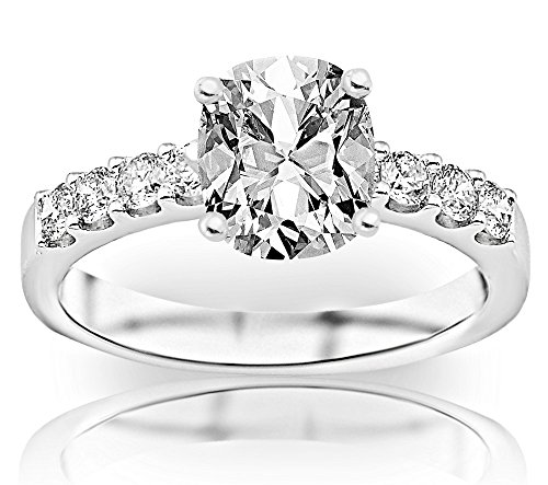 2 Carat GIA Certified Cushion-Cut Classic Prong Set Diamond Engagement Ring with a 1 Ct G-H VS1-VS2 Center
