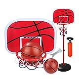 TOPofly Aro de Baloncesto Baloncesto de los niños para Niños 1,5 m de Altura Ajustable Interior y Exterior Juegos de Deportes Niños Juego de Pelota Juego de Juego
