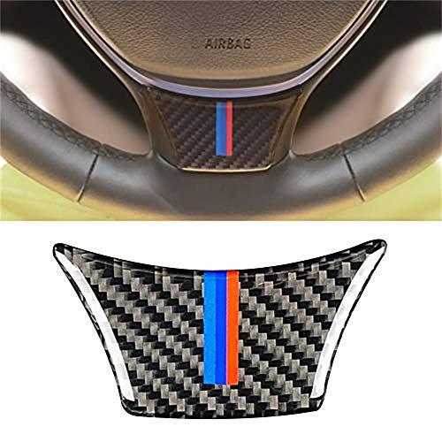 JMY Carbon Fiber Steering Wheel Sticker M Stripe Emblem 3D Car Sticker for BMW F10 F11 5 Series 7 Series (Steering Wheel Decor) (A)