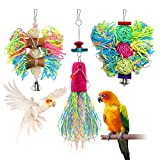UNIQUE DESIGN - A busy bird is a happy bird. This food-safe, woven shredder ball is covered in brightly colored, food-safe streamers that will keep your companion shredding, picking, and preening for hours to find hidden blocks, balls, and more. SAFE...