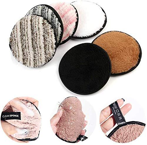 Microvezel Facial Makeup Remover Handdoek, afwasbaar/Herbruikbare, make-up remover Doek, Remover Make Up Washandje 6 stuks lsmaa