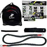 Kbands Training Speed Reactive Stretch Cord - Adjustable Belt, Anchor Strap, Dual Resistance Cord, Overspeed Accelerator, Vertical FX (Waist Size 32 - 39 Inches)