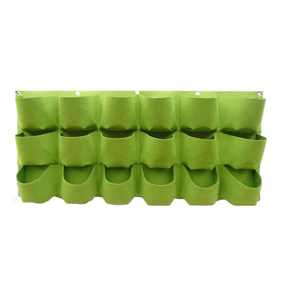 相対的信じるそれる植え袋 垂直吊り壁プランター 18の広々としたポケット付き、 ハーブ多肉植物人工植物花用 取り扱いが簡単