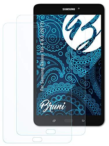 Bruni Schutzfolie kompatibel mit Samsung Galaxy Tab A 8.0 (2017) Folie, glasklare Bildschirmschutzfolie (2X)