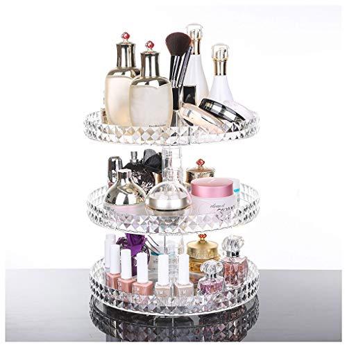 Make-up-organizer, 360 graden draaibaar sieraden, opbergdoos, parfumweergave, cosmetische doos, kristal acryl bewaren