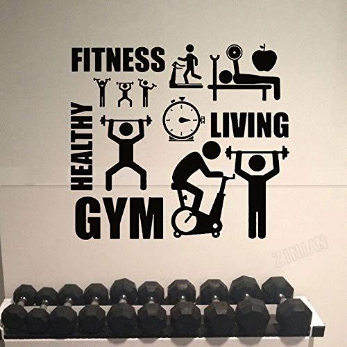 Calcomanía de vinilo para pared de pista y campo saludable, gimnasio, deportes, Fitness, calcomanía de pared, decoración de gimnasio, decoración moderna para el hogar