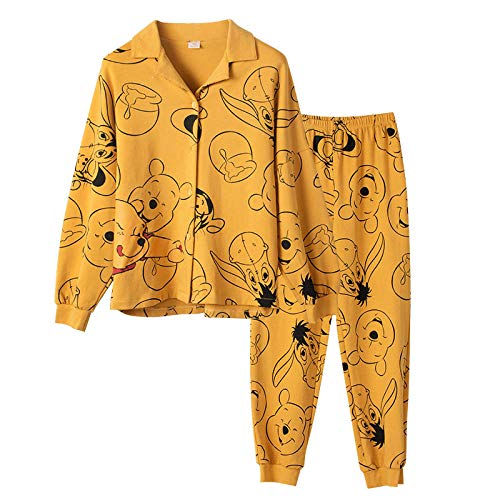B/H Pijamas navideños Conjunto Familiar,Pijama Casual de Dibujos Animados de algodón de Invierno para Mujer, BQA89814_XL,Pijamas de Franela Suave Cálida Ropa
