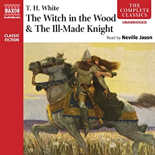 'The Witch in the Wood' & 'The Ill-Made Knight' audiobook cover art