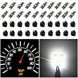 74 bulb led - WLJH 74 Led Bulb Dash Lights Super Bright T5 2721 37 70 286 Wedge PC74 Twist Socket Automotive Instrument Panel Gauge Light Kits Cluster Shift Indicator Bulbs White Pack of 20