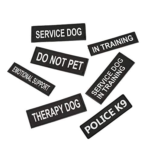 Excellent Elite Spanker 2 Pcs Magic Sticker Morale Patch Reflective Police K9 Patch in Training Puppy for Dog Harnesses & Vests
