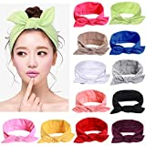 12pcs Solid Color Women Headband...