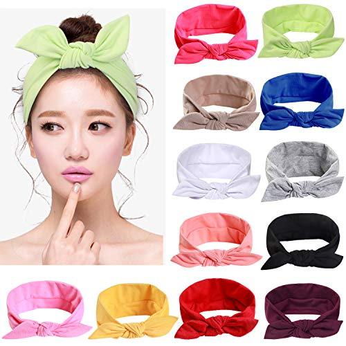 Letters Bow Headbands for Women Adult Teenage Girl Hair Accessories 2019 Mix Color Elastic Headband Female Hairband Headwear,Dark Khaki