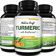 Turmeric Curcumin with Bioperine for Joint Support -Turmeric Supplement Immune System Booster for Detox Cleanse Gut Health and Liver Support - Natural Brain Supplement Turmeric Capsules with Bioperine