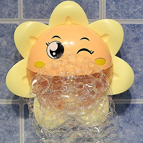 Lowest Price! Lihgfw Bath Toys Sunflower Bath Bubble Machine Baby Toys Boys Girls Children Play Wate...