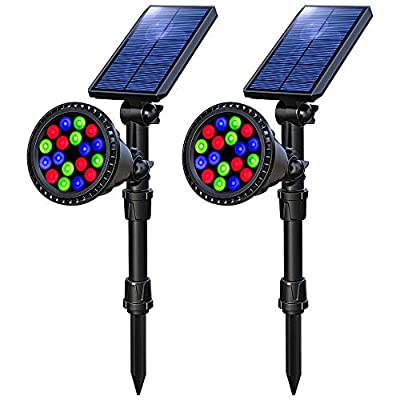 OSORD Solar Lights Outdoor, Upgraded Waterproof 18 LED 2-in-1 Solar Landscape Spotlights Wall Light Auto On/Off Solar Powered Landscaping Lighting for Garden Yard Driveway Porch Walkway
