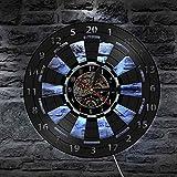 Reloj de Pared de Vinilo Juego de Dardos Tablero de Dardos Reloj de Pared Sala de Juegos Bar Bar decoración de la Pared Flecha Objetivo Juego Diana Disco de Vinilo Reloj de Pared