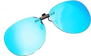 Embryform flash polarizzato a specchio,Occhiali da sole clip on lenti (filtro uv) sunglasses per guida/pesca/visione nottu...