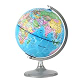 SOONHUA Illuminated Globe, 8 inch Educational Geographic Globe World Globe with Built in