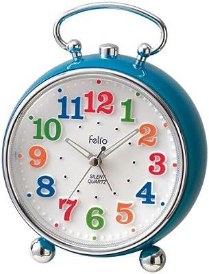 Felio(フェリオ) アナログインテリア目覚まし時計 トイクロック ブルー FEA149BU