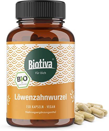 Löwenzahnwurzel Bio 150 Kapseln - 450mg Löwenzahnwurzelpulver je Kapsel - vegan- Abgefüllt und kontrolliert in Deutschland (DE-ÖKO-005)