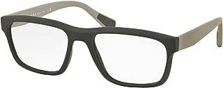Prada PS07GV Eyeglasses 55-18-140 Gray Rubber w/Demo Clear Lens TFZ1O1 VPS07G VPS 07G PS 07GV