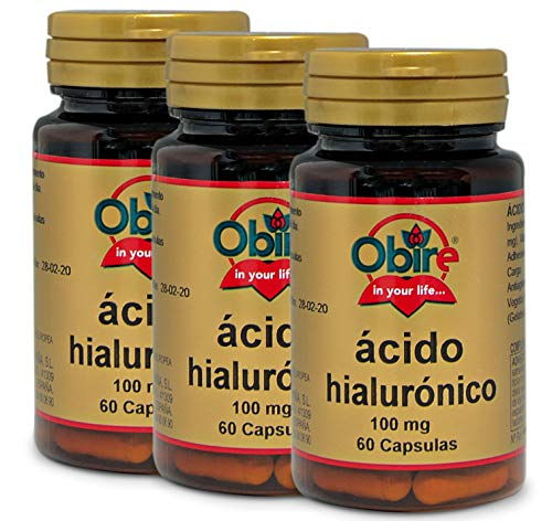 Ácido hialurónico 100 mg. 60 cápsulas. (Pack 3 unid.)