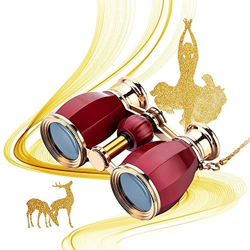 Prismáticos Binoculares para Mujeres Adultos 4x30 Mm Gafas De Teatro Binoculares Compactos para Teatro Y Conciertos