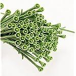 yesok 100pcs artificial flower floral stem plastic rose floral wire for diy craft bouquet rose vine wreath garlands