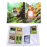 Dorara Tarjeta de Comercio Álbum, GX y EX Cartas Pokemon Álbum, Carpeta Cartas Pokemon, Album Pokemon Puede acomodar 120 Tarjetas Individuales o 240 Tarjetas Dobles (Raichu)