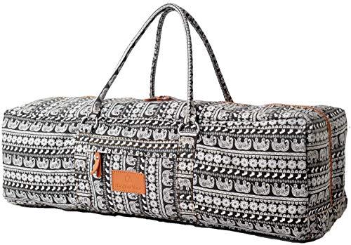 #DoYourYoga Yogatragetasche »Ghanpati Segeltuch aufwendig verarbeitet, Tasche für Yogamatten, Pilatesmatten, Fitnessmatten bis Größe von 186x62x1,5 cm, in 12 Designs Muster 4 pink(Eulen)