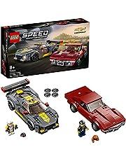 LEGO 76903 Speed Champions Chevrolet Corvette C8.R racewagen en 1968 Chevrolet Corvette Raceauto's, Constructie Speelgoed
