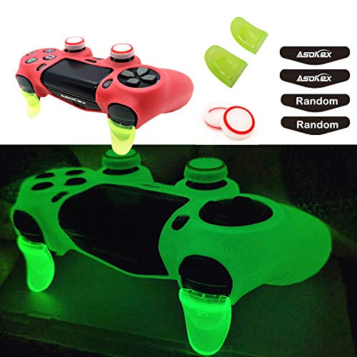 Ps4 Controller Skin Silicone Case Grip Glow in Dark Protective Cover for PS4/slim/Pro Dualshock 4...