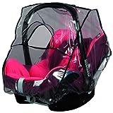 sunnybaby 13222 - Cubierta Universal para la Lluvia, para portabebés, Asiento de Coche de bebé (por Ejemplo, Maxi Cosi, Cybex, Kiddy y etc.), Ventana de Contacto, Apertura de Transporte, Transparente