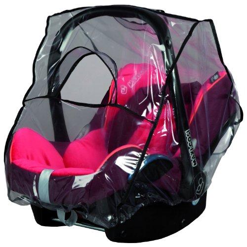sunnybaby 13222- Universal Regenverdeck, Regenschutz für Babyschale, Baby-Autositz (z.B. Maxi Cosi, Cybex, Kiddy uva.)| Kontaktfenster | abdeckbare Trageöffnung | glasklar | Qualität: MADE in GERMANY