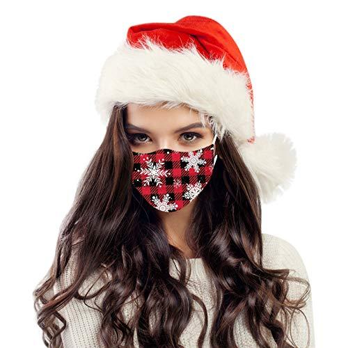 Shineshae 10PC Weihnachten Face Cover Bandanas Damen Mundschutz Schal Elastiche Multifunktion Universelle Staubdichte Und Smogwaschbare Multifunktionstuch Atmungsaktive