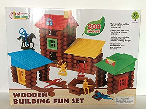 First Learning Wooden Building Fun Set by First Learning